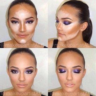 How To Make A Big Forehead Like Mine Look Smaller Pinterest Makeup Contour Makeup Skin Makeup