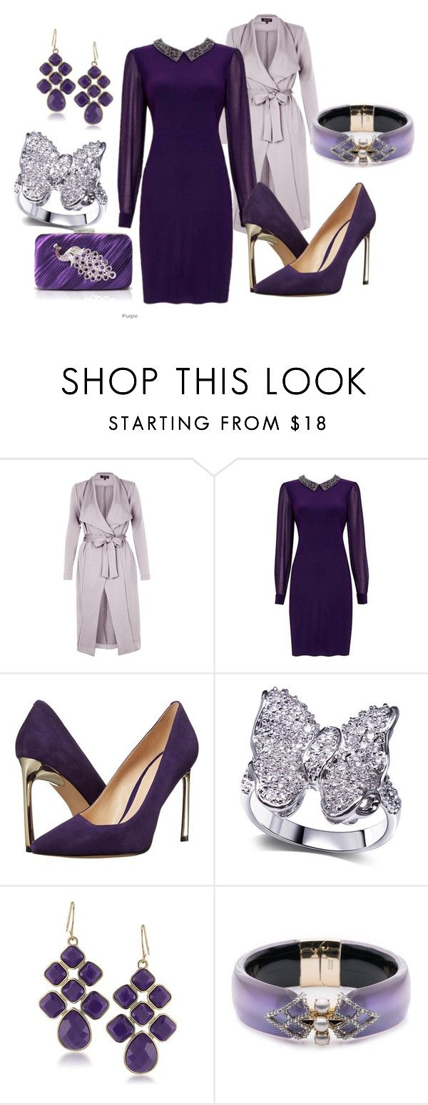 """""""Purple night on the town"""" by deirdre35 ❤ liked on Polyvore featuring New Look, Nine West, 1st & Gorgeous by Carolee, Alexis Bittar and Jacki Design"""