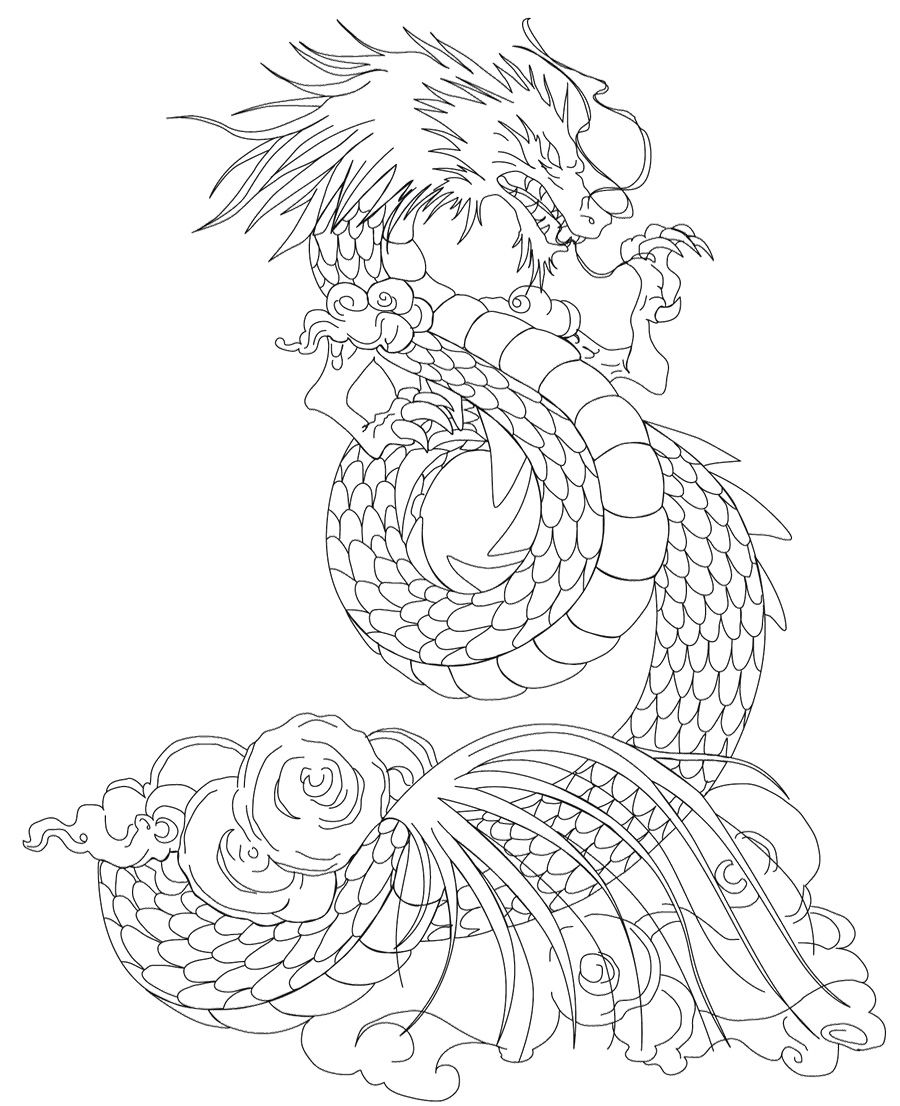 Dragon Coloring Pages Online Free | Pattern - fairy & scary ...