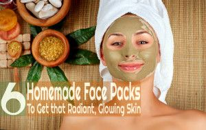6 Homemade Face Packs to get that Radiant, Glowing Skin