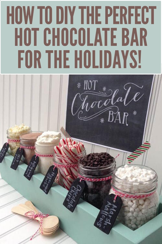 How to DIY a holiday hot chocolate bar #hotchocolatebar
