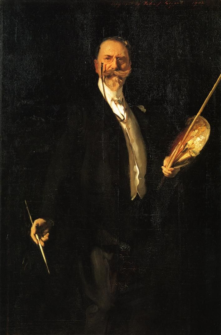 In their esteem for his great leadership and generous devotion, Chase's students commissioned his portrait to be painted by John Singer Sargent. Description from finnertyfinnerty.com. I searched for this on bing.com/images