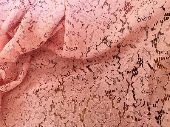 blush pink lace fabric cord lace fabric alencone lace door LaceFun