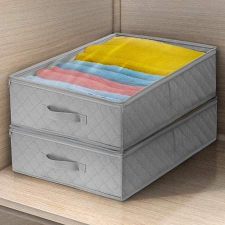 Sorbus Storage Bags Closet Underbed Organizer Set Clear Cover