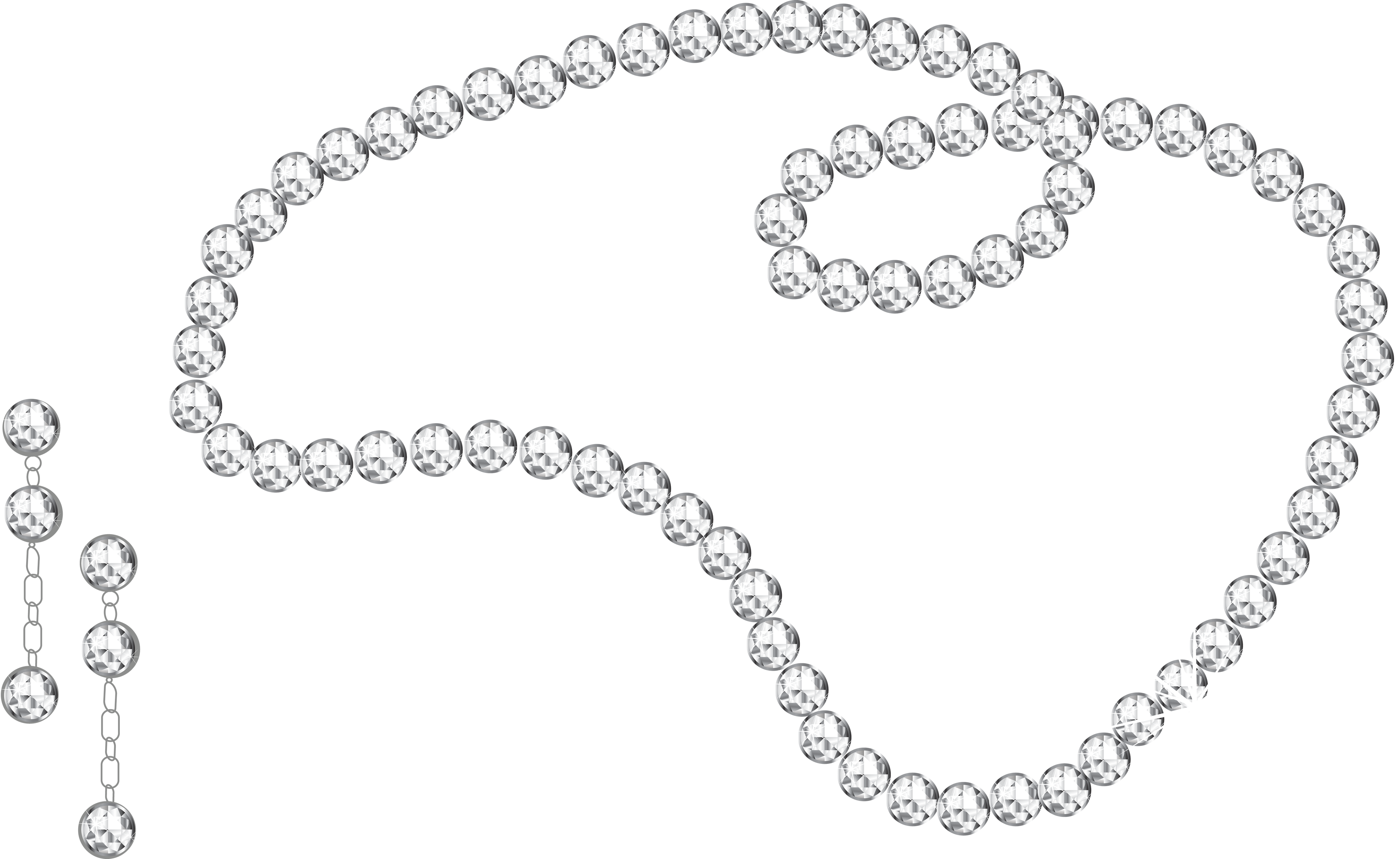 Diamond Necklace And Earrings Png Image Diamond Jewelry Earrings Diamond Pearl And Diamond Necklace
