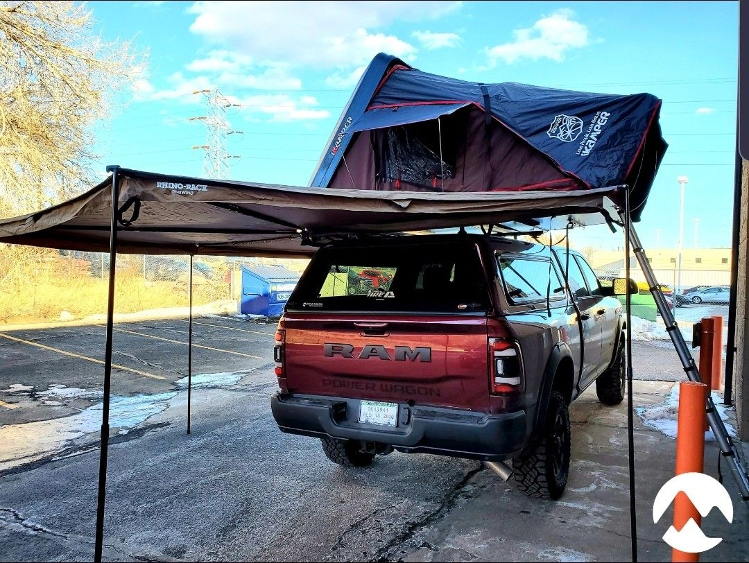 Ram 2500 Power Wagon with ikamper Skycamp 4x hardshell