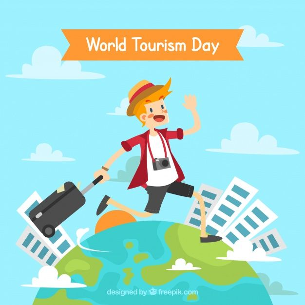 Download Happy Man Traveling Around The World World Tourism Day For Free Traveling By Yourself Home Maintenance Tourism Day