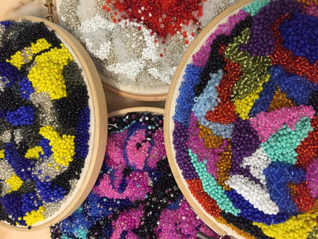 Cecilia Ajayi is an incredible designer who works with seed beads to create out of this world textiles – Embellished Talk