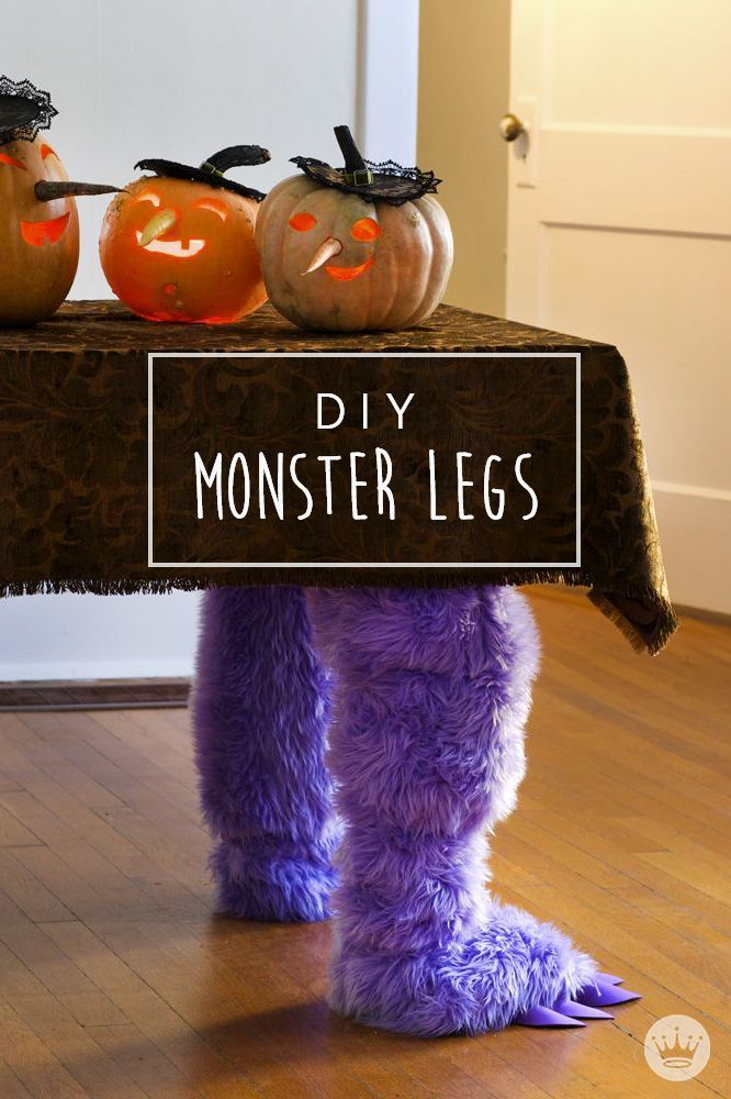 Trick out your house with these DIY Halloween decorations Turn your table into a Halloween decoration that's perfect for your party—with this craft for DIY Monster Legs. Your kids are sure to love the furry addition!