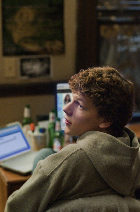 Still of Jesse Eisenberg in The Social Network (2010)