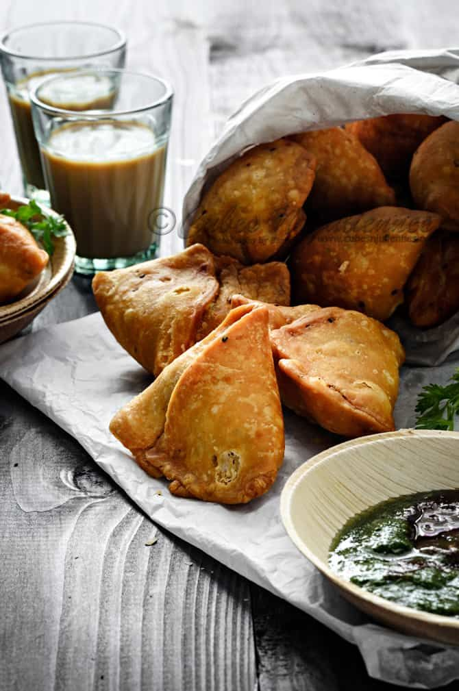 Samosa Recipe - How To Make The Best Indian Samosa (Video)