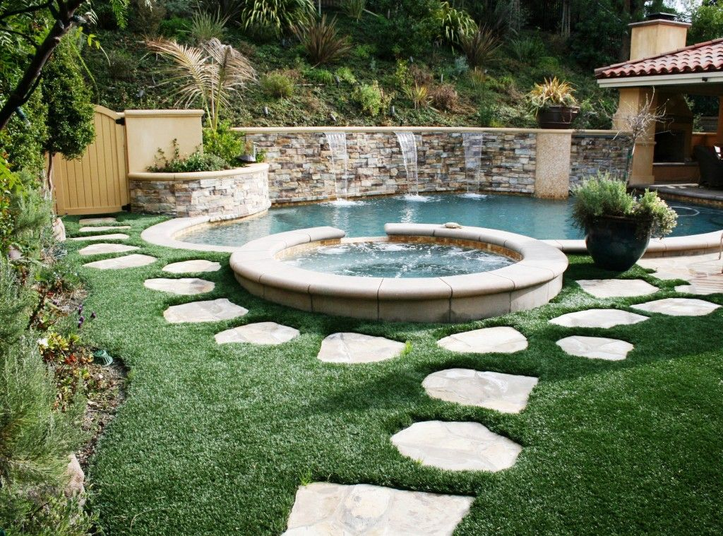 Yes please backyard ideas pool turf beautiful looks for Landscaping rocks yuma az