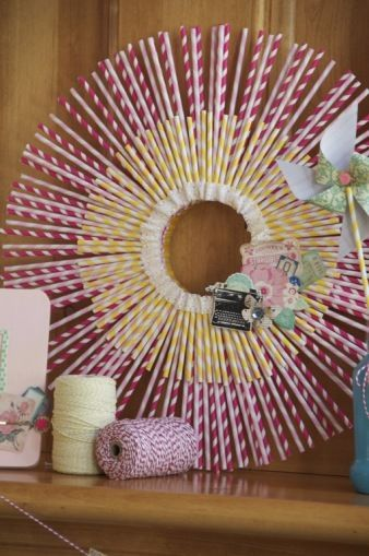 8 Craft Projects To Do With Striped Paper Straws