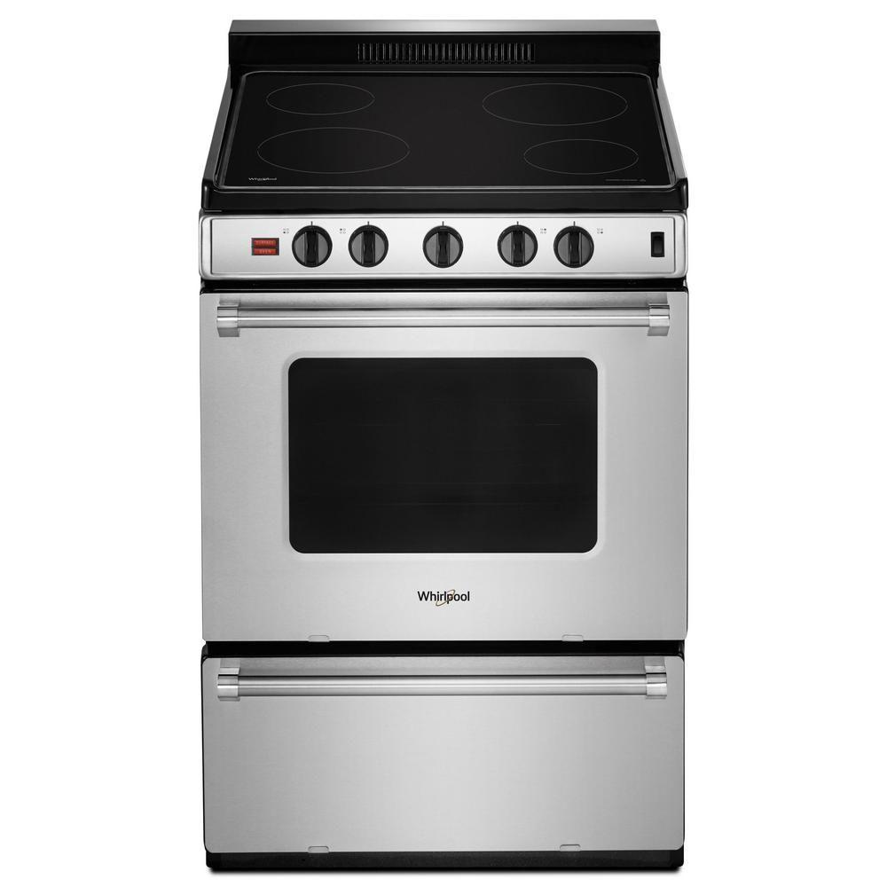 Whirlpool 2 96 Cu Ft Single Oven Electric Range With Upswept