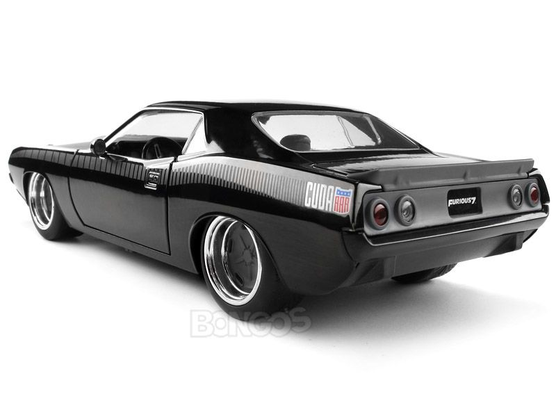 Plymouth Barracuda negro lettys 1970 the fast and the Furious 1//24 jada modelo
