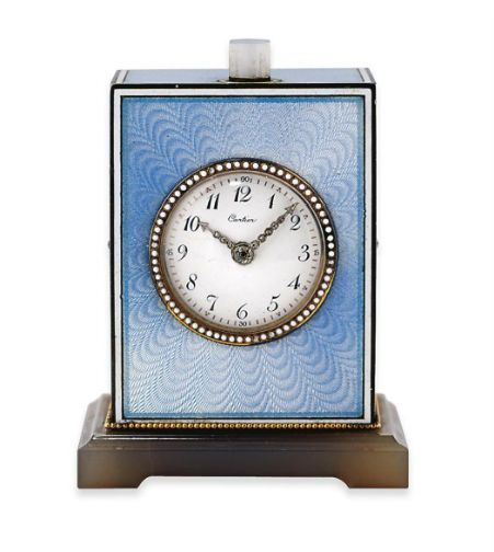 Enamel And Diamond Minute Repeating Desk Clock Cartier 1915 Clock Desk Clock Antique Collection