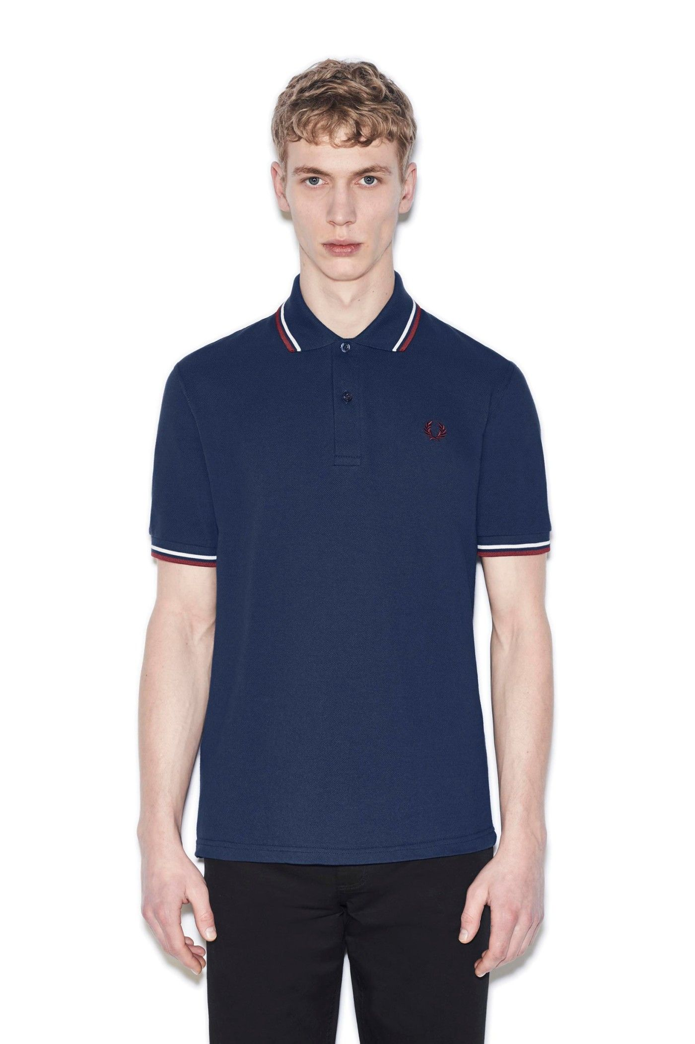 Fred Perry - M12 French Navy / Snow / Maroon