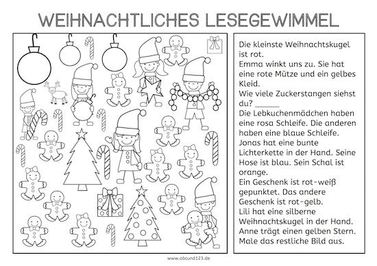 weihnachtliches lesegewimmel primary german primary. Black Bedroom Furniture Sets. Home Design Ideas