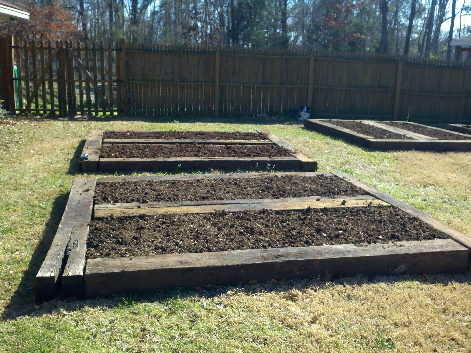 Raised Garden Beds Out Of Railroad Ties Google Search