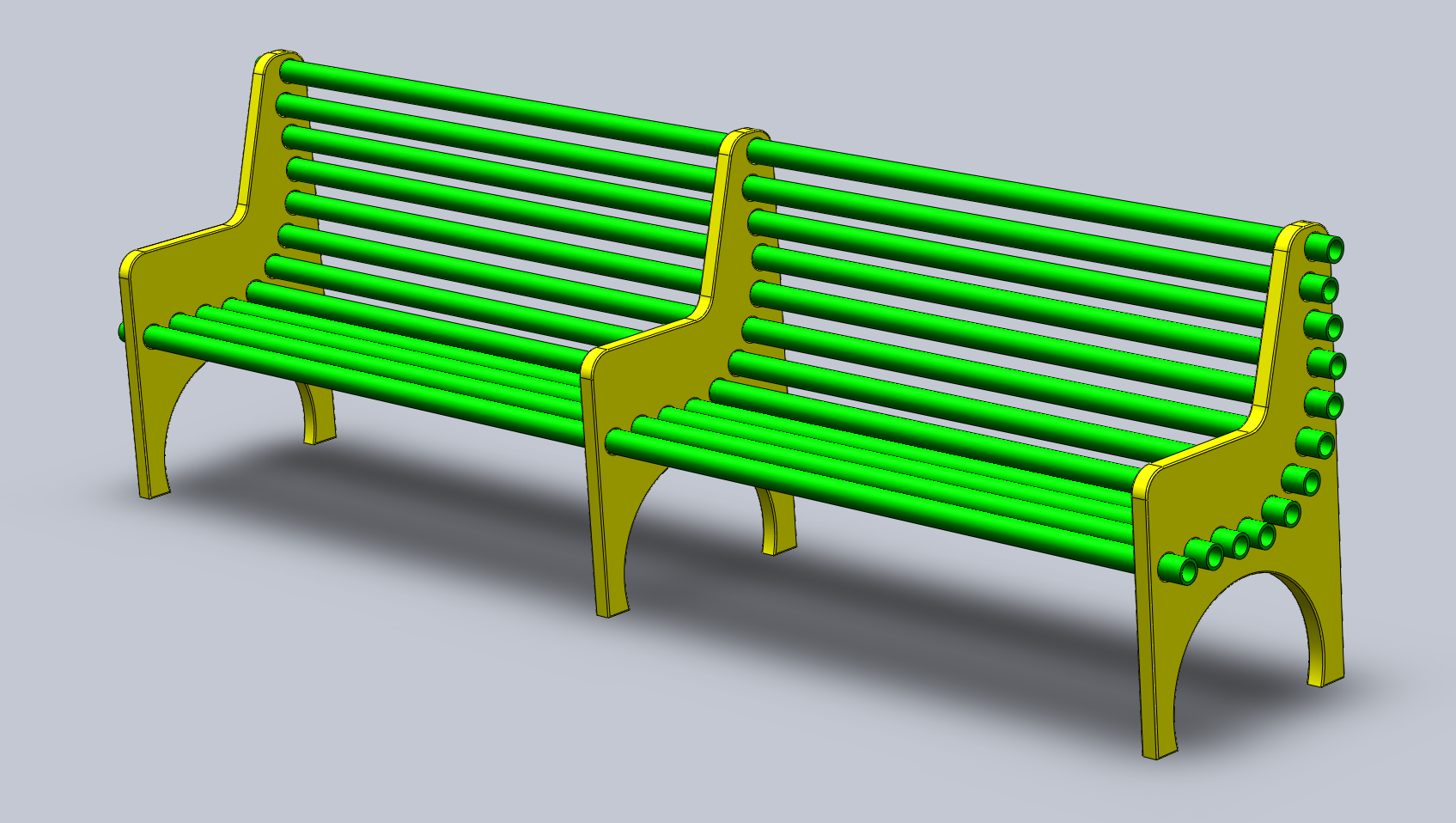 Pvc projects pvc pipe bench the gahooa perspective for Pvc crafts