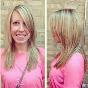 This blondie is seriously channeling Barbie in the most adorable way! #hilites by Virginia. www.strangebeautyshow.com