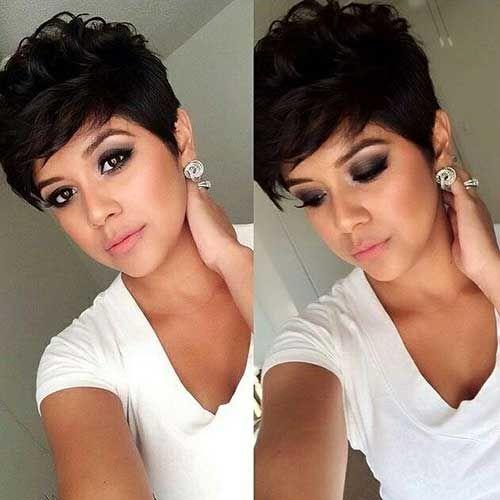 20+ Kurze dunkle Haare Pics #shortpixiehaircuts