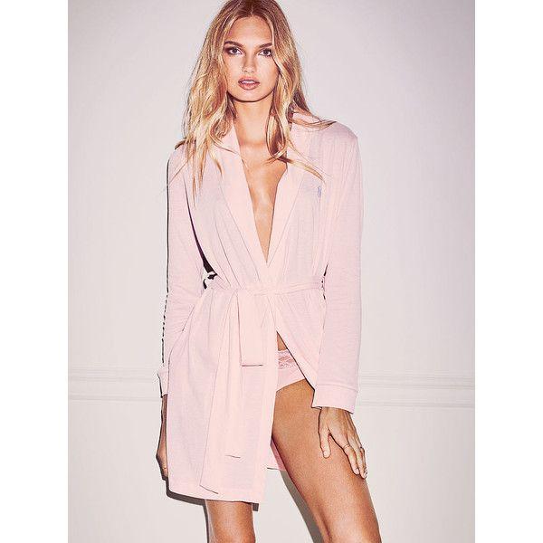 Victoria\'s Secret Sleepover Cotton Knit Robe ($45) ❤ liked on ...