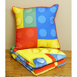 Lego Throw Pillow And Blanket Set Ping Great Deals On Kids Bedding