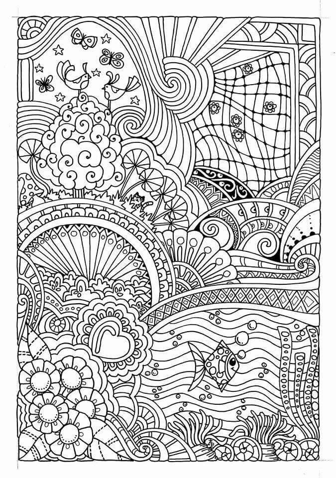 Summer Time Coloring pages | Coloring pages | Pinterest | Adult ...