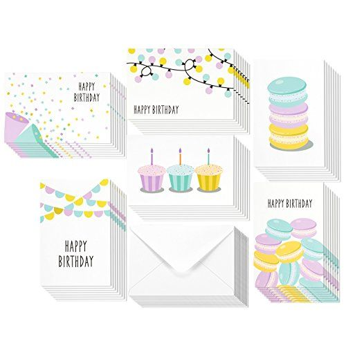 48 Pack Happy Birthday Greeting Cards