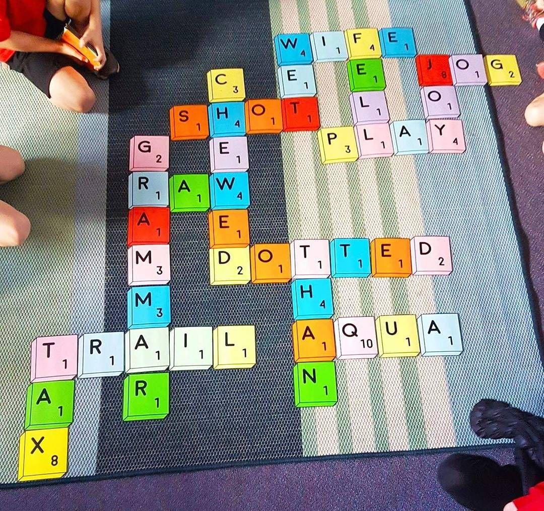 Giant Scrabble Tiles Scrabble Word Work Bundle
