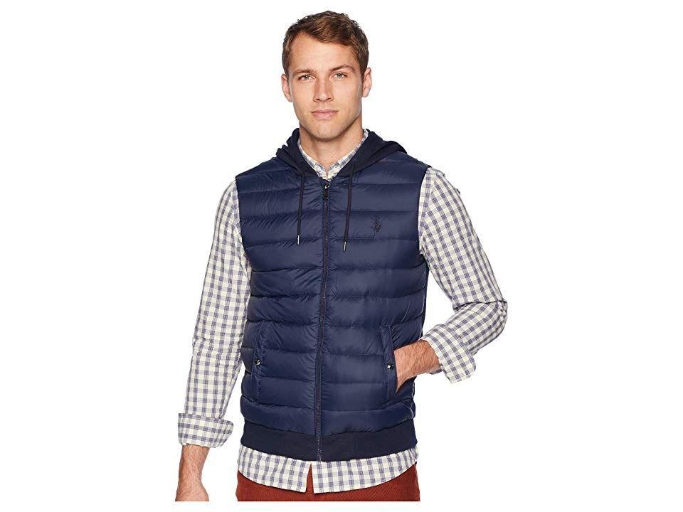 Polo Ralph Lauren Double Knit Tech Nylon Vest (Aviator Navy) Men s Vest.  Chilly feeb8ade0a63