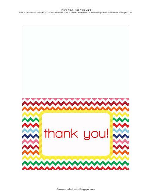 Free Thank You Card Printable Christmas Pinterest Free Printable
