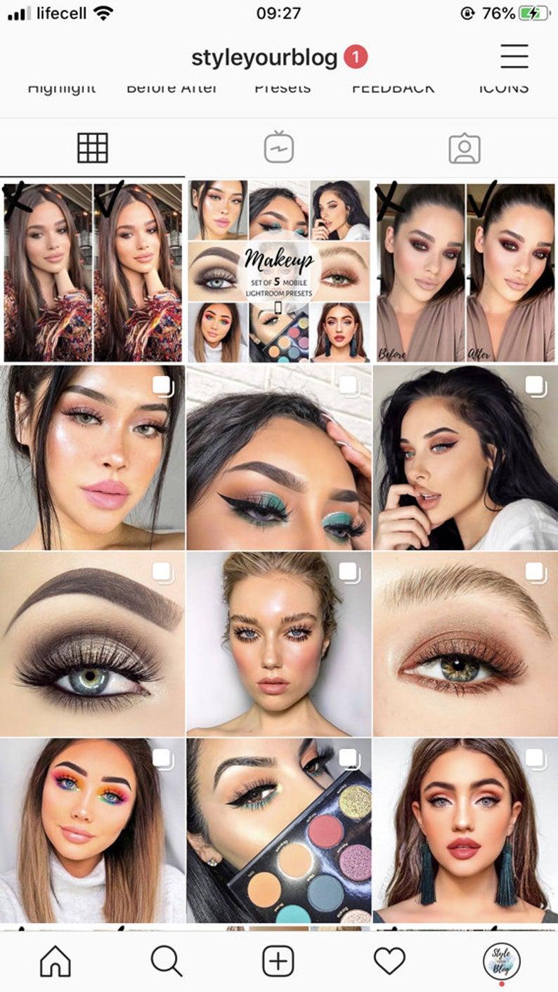 Makeup Presets for DESKTOP Lightroom best 5 Instagram grid