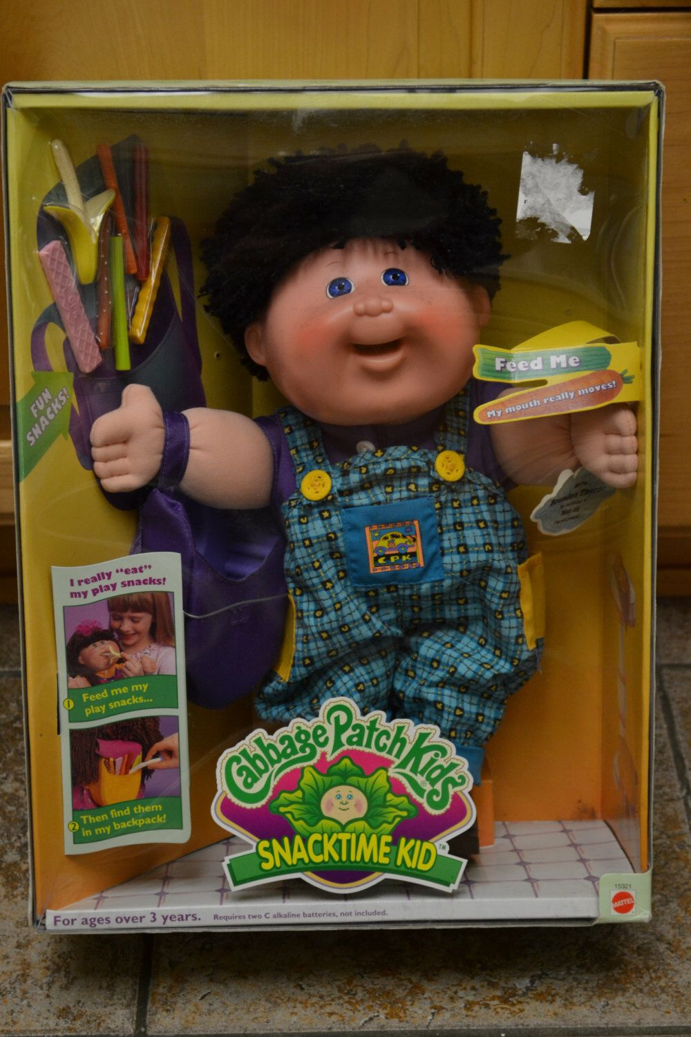 Cabbage Patch Snacktime Kid Kids For Collection Display Only Recall Super Rare