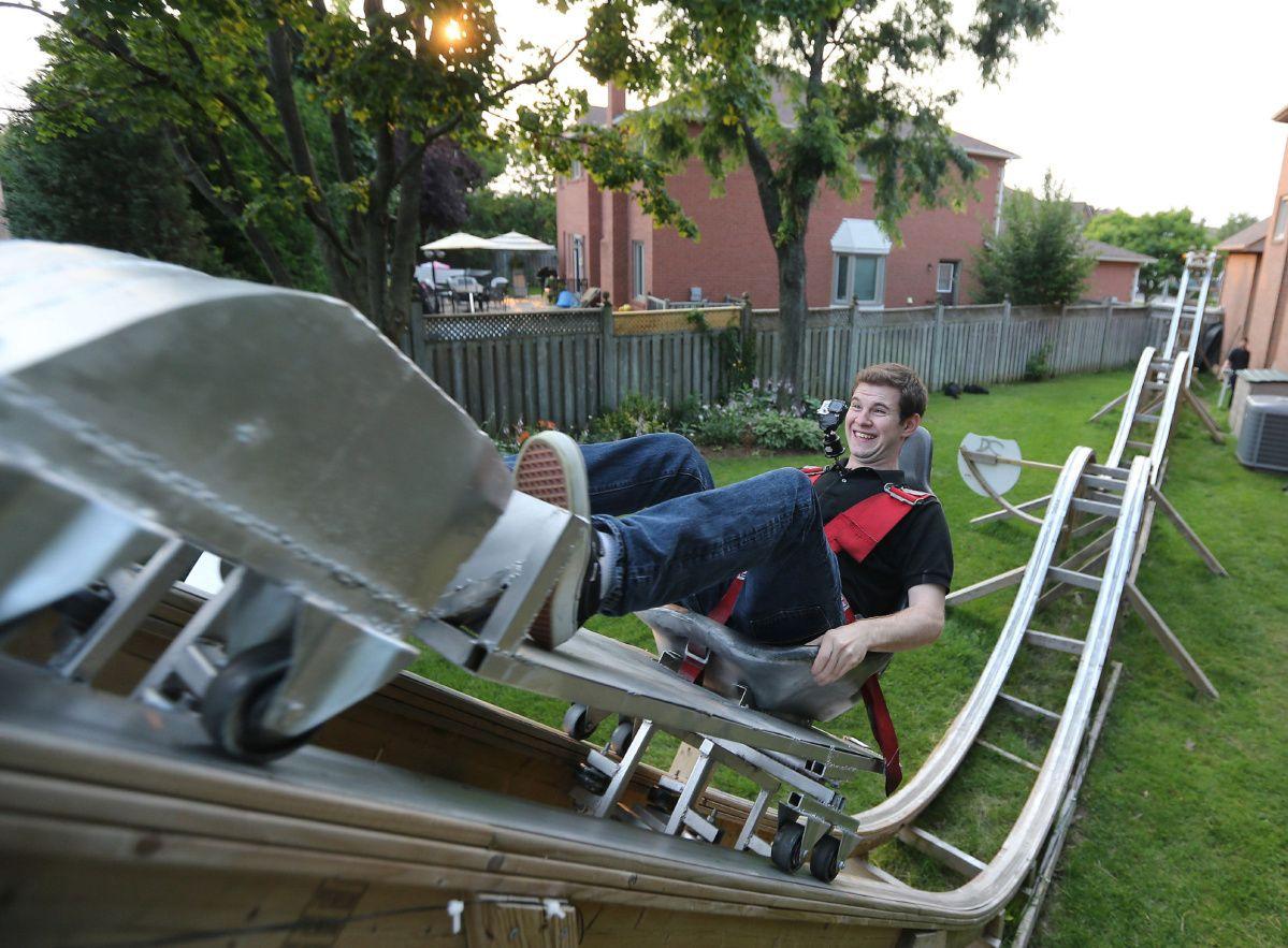 Building A Backyard Roller Coaster Backyard Farm Fun Outdoor Furniture Design Diy backyard roller coaster