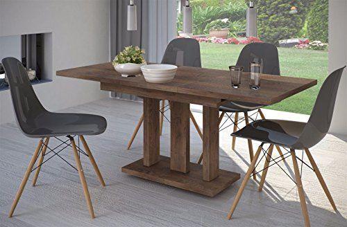 esstisch nussbaum ausziehbar 140cm 190cm erweiterbar kchentisch auszugtisch sulentisch - Erweiterbare Konsole Esstisch