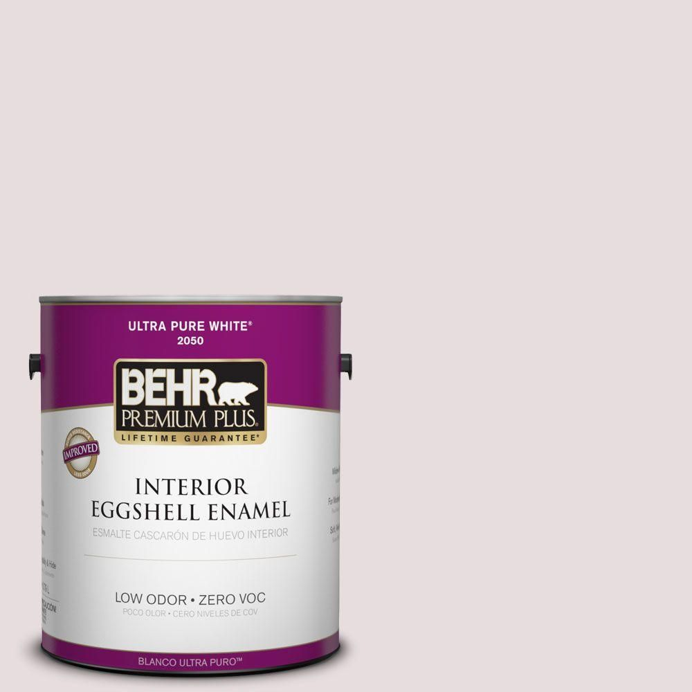 BEHR Premium Plus 1-gal. #100E-1 Coquette Zero VOC Eggshell Enamel Interior Paint