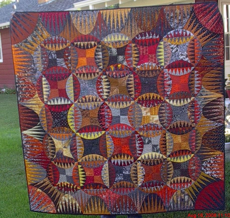 Indian Orange Peel - always love this Karen K. Stone pattern ... : indian quilt pattern - Adamdwight.com