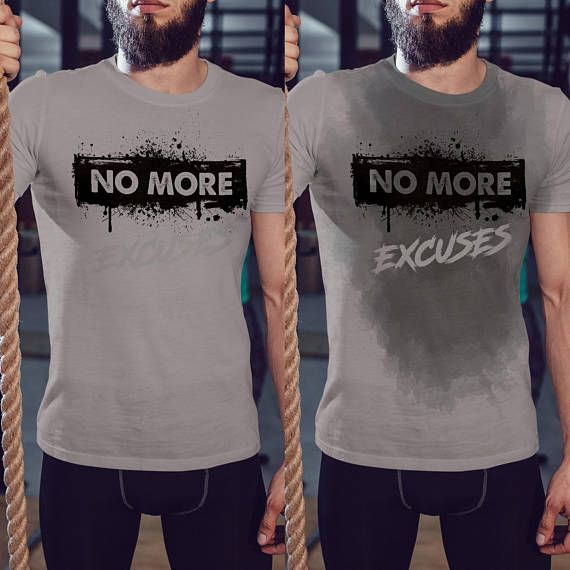 8cae3c2e No More, Excuses - Sweat Workout Funny Shirt For Men's, Gym Shirt, Workout  T Shirt, Running Tee, Fitness T-Shirt, New Years Resolution Tee