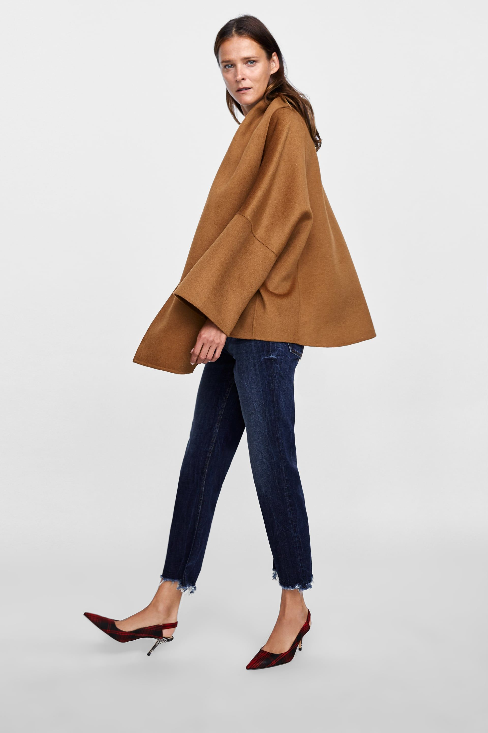 5489f3b297 ABRIGO CAPA BUFANDA | Zara | Cape coat, Zara cape, Capes for women
