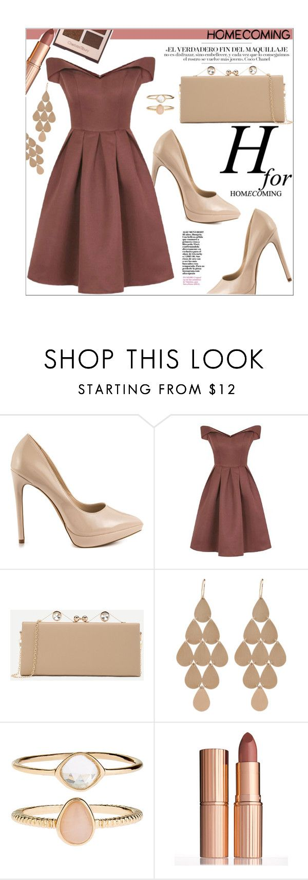 """""""Homecoming"""" by castelli ❤ liked on Polyvore featuring ALDO, Chi Chi, Irene Neuwirth, Accessorize, Charlotte Tilbury and Homecoming"""