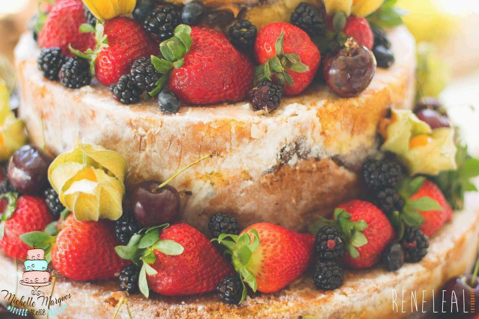 Naked Cake, bolo casamento, bolo pelado, morangos, frutas, cake wedding