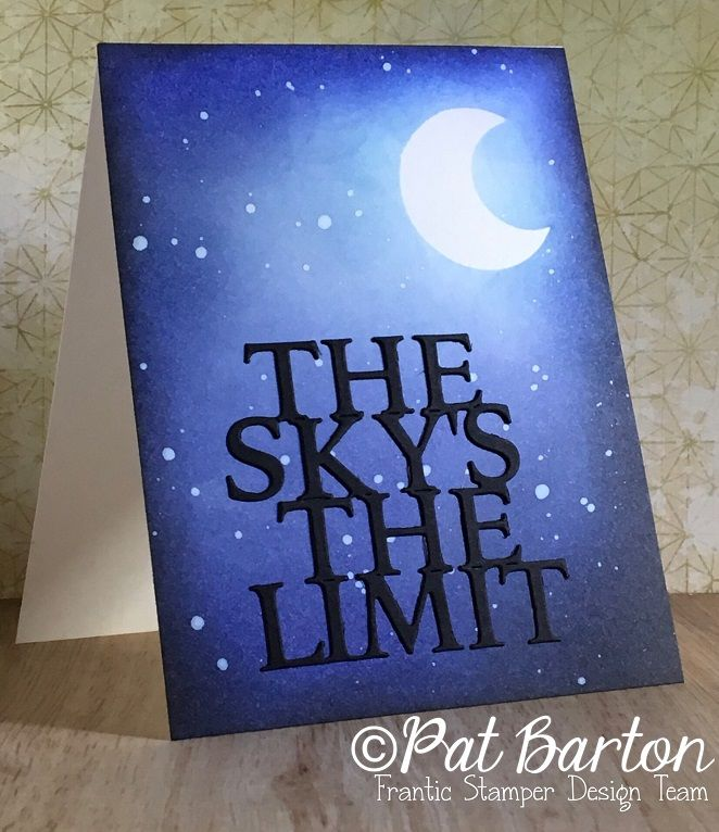 Image result for cards made using frantic stamper skys the limit die