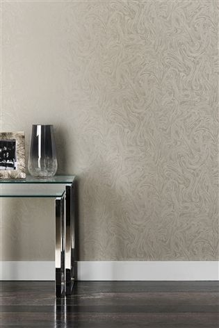 Buy Paste The Wall Silver Marble Effect Wallpaper From The