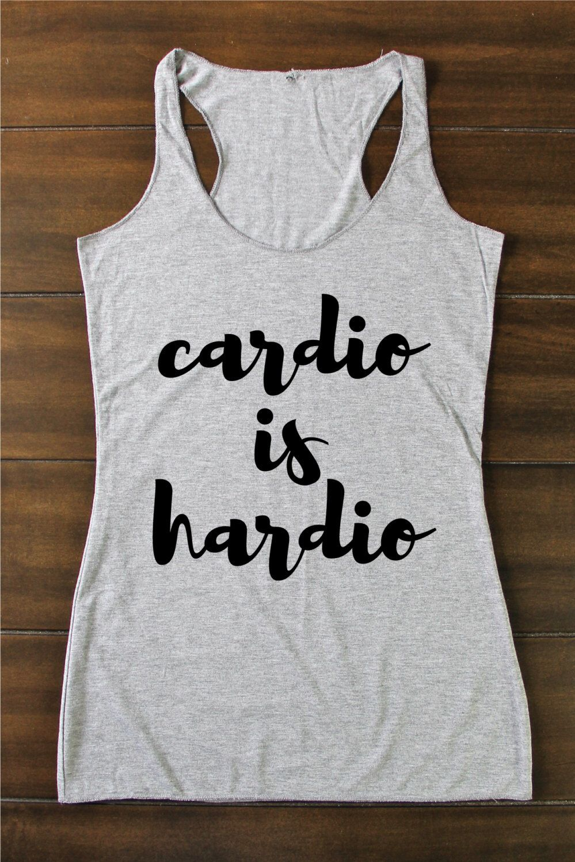 Funny Gym Shirt Tank Top Women Tank Top Cardio Is Hardio Tanks Racerback Tops Tank Tops Women Cardio Is Hard Shirt Funny Gym Tank Top