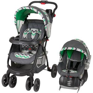 Baby Trend Encore Lite Travel System Stone Green Love The