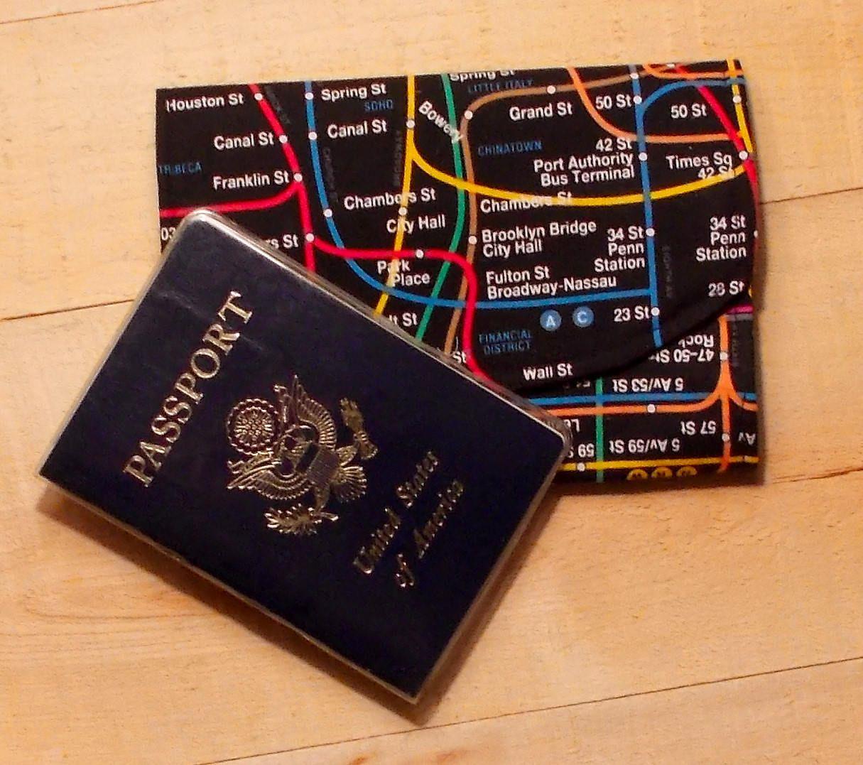 New York City Subway Map Fabric Passport
