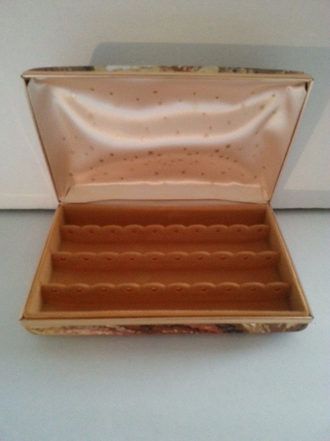 1950s 1960s Vintage Home Decor Collectible Jewelry Box Mid