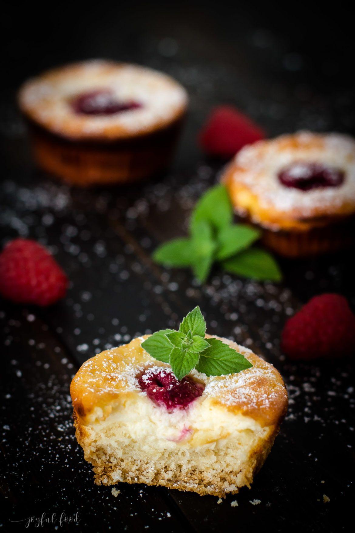 Käsekuchen Muffins mit Himbeeren #apfelmuffinsrezepte